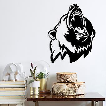 Bear 2 Czarne dekoracyjne metalowe akcesorium ścienne