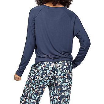 Cyberjammies Freya 4960 Kvinner Marine Blå Modal Pyjamas Topp