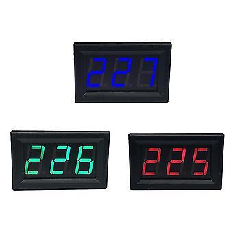 "Ac 70-500v 0,56 ""led digital voltmeter spannung meter volt instrument tool 2 drähte rot grün blau display 110v 220v diy 0,56 zoll"