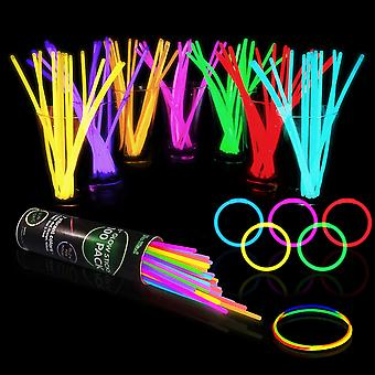 100-500 Glow Sticks Bulk Party Supplies - Glow in The Dark Fun Party for Bracelets and Necklaces