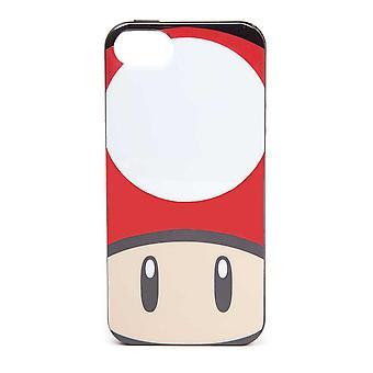Super Mario Bros. Toad Mushroom Face Phone Cover für Apple iPhone 5 / 5S