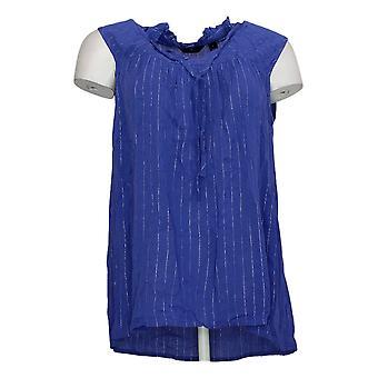 G By Giuliana Women's Top Summer Shine Woven Tank Purple 650879