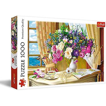 Flowers in the Morning Jigsaw Puzzle 1000 Pieces