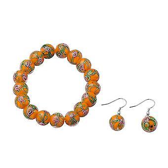 TJC Beaded, Drop Dangle Smykker Sæt til Kvinder 7,5 '' Murano Glass 0,002ct