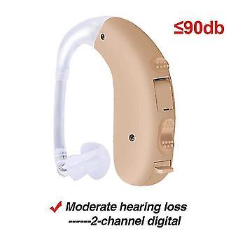 Cofoe intelligent bte audífono digital portátil amplificador de sonido de doble canal reducción de ruido para
