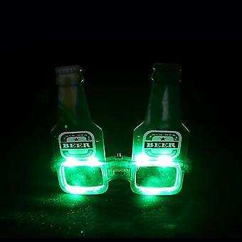 Oluen muotoiset led-lasit valoisat lasit Neon Party Led Light Up Eyeglasses Cosplay Halloween Dj Party