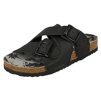 Boys JCDees Mid Footbed X Strap Sandals N0032