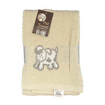 Country Club Pet Handtuch 60x120cm Creme Hund