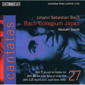 J.S. Bach - Bach: Cantates, Vol. 27 - Bwv 5, 80, 115 [CD] USA import