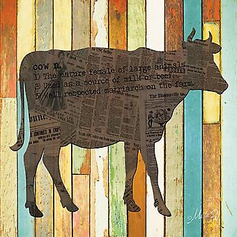 Cow Poster Print by Marla Rae (12 x 12)