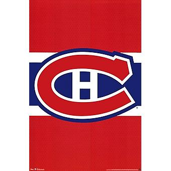 Montreal Canadiens - logotipo 2012 Poster Poster Print