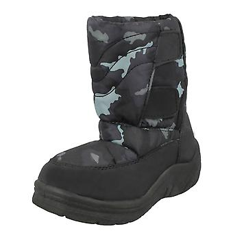 Boys Spot On Padded Snow Boots 8.998876