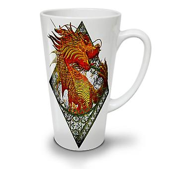 Asian Dragon NEW White Tea Coffee Ceramic Latte Mug 12 oz | Wellcoda