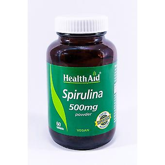 Health Aid Spirulina 500mg, 60 Tablets