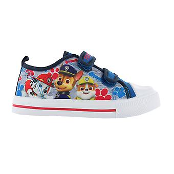 Boys Paw Patrol Blue Canvas Soft Touch Trainer Hook and Loop Sizes 5-10 child
