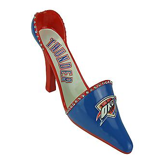 OKC Oklahoma City Thunder Classic High Heel Shoe Wine Bottle Holder