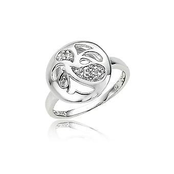 Orphelia srebro 925 pierścień kwiatowy cyrkonu ZR-3686