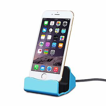 Cradle sync charger dock charging stand for Apple iPhone 5 S 5 C SE 6 7 7 S 6 S plus blue