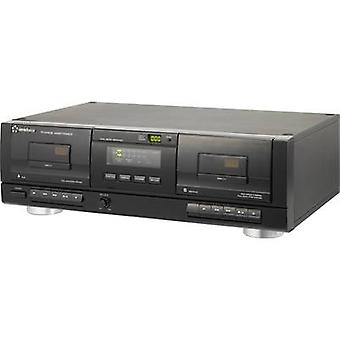 Cassette deck Renkforce TP-1010USB Black Twin cassette deck, USBfor digitising