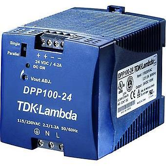 TDK-lambda DPP-100-24 rail montert PSU (DIN) 24 V DC 4,2 A 100 W 1 x