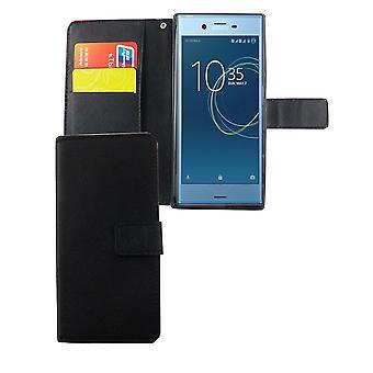 Mobiili tapauksessa laukku kännykälle Sony Xperia XZs musta