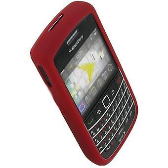 5 pack -OEM Blackberry 9630 Tour, 9650 Lihavointi, geeli ihon silikonisuojus, punainen