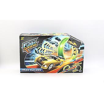 Flash Racers Drag Racing pista Playset con veicolo del giocattolo