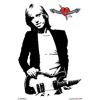 Tom Petty - Black and White Poster Print
