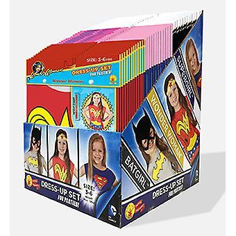 DC girls Party Pack med 36 like store Batgirl, Supergirl og Wonder Woman kle Ups for barn