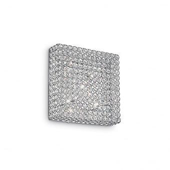 Ihanteellinen Lux Admiral Modern aukio Crystal 6 kevyt seinävalaisin