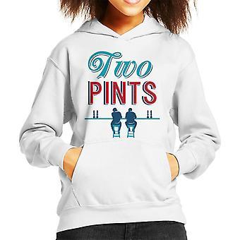 Must Read Book Covers Two Pints Kid's Hooded Sweatshirt