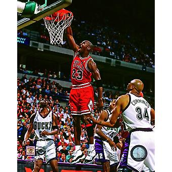 Michael Jordan 1995-96 Action Photo Print