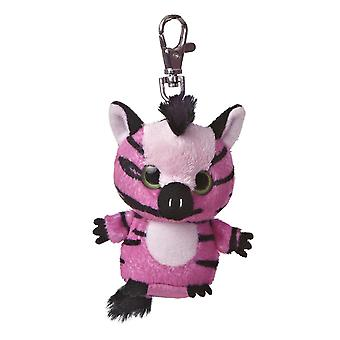 Stripee YooHoo Plush Pink Zebra Clip On by Aurora - 29055