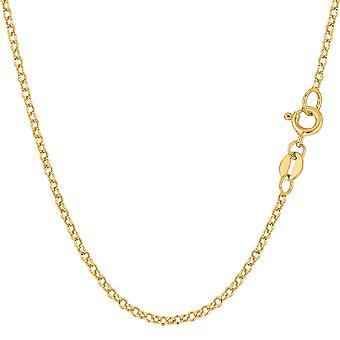 10 k żółte złoto rundy Rolo Link łańcuch naszyjnik, 1,9 mm