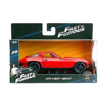 Jada 1:32 8 rápido y furioso - de Letty Chevy Corvette - JA98306