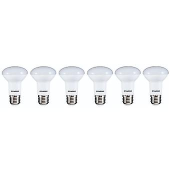6 x Sylvania RefLED R63 V2 E27 7W caldo bianco LED 630lm [classe energetica A +]