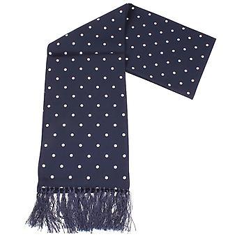 Knightsbridge cravates Polka Dot robe Echarpe - bleu marine/blanc