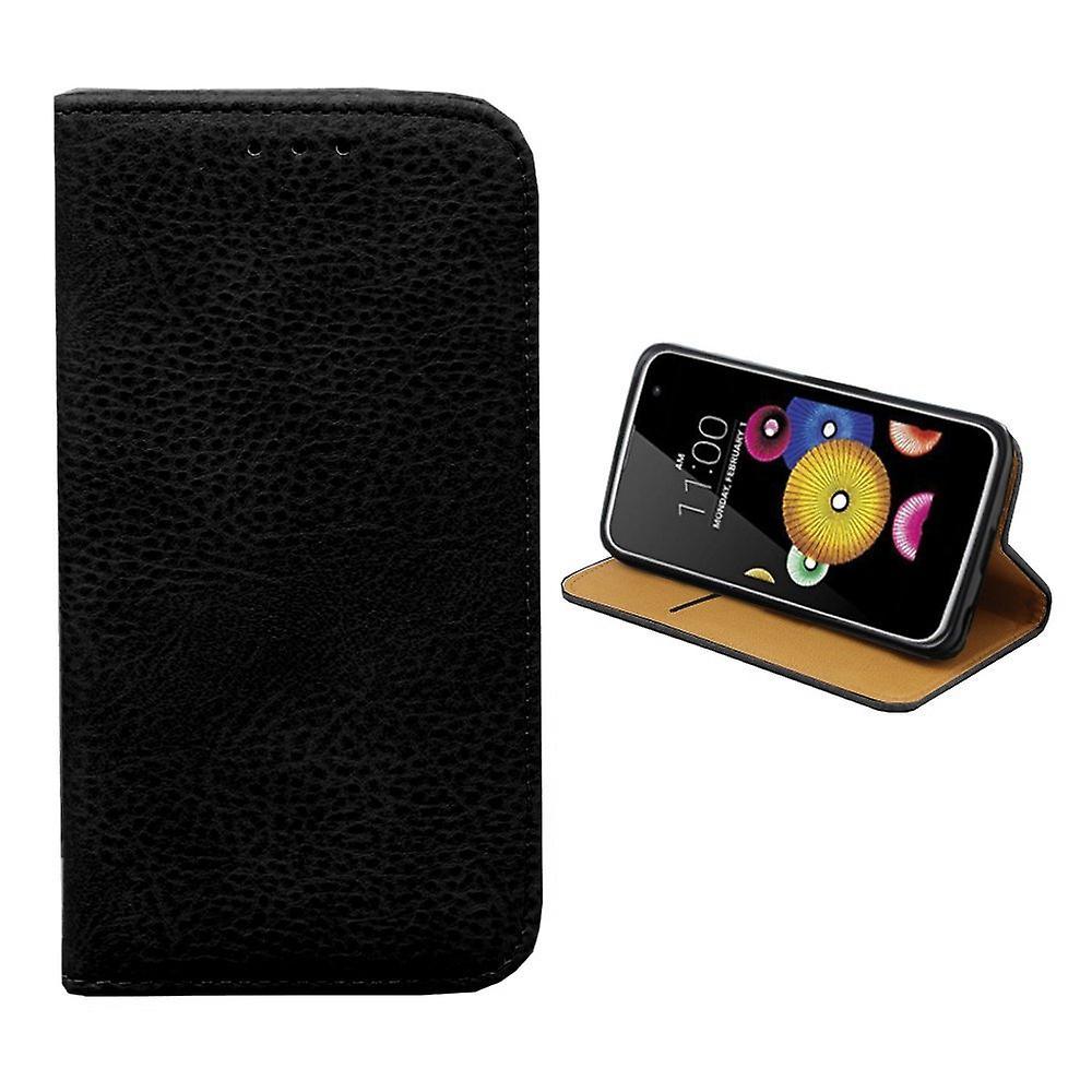 Colorfone LG K10 Brieftasche Fall (SCHWARZ)