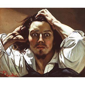 Autorretrato El Hombre Desesperado, Gustave Courbet, 45x54cm