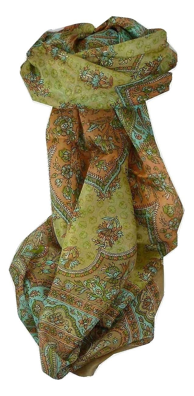 Mulberry Silk Traditional Long Scarf Zarine Caramel by Pashmina & Silk