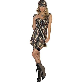 Fever Army Girl Costume, UK Dress 16-18