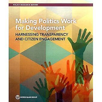Rendre le travail politique pour le développement: exploiter la transparence et la participation des citoyens (rapports de recherche politique)