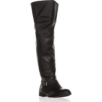 شريط نسيج دافني النسائي الثالث إصبع اللوز الركبة عالية أزياء أحذية