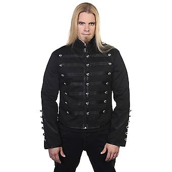 Banned Black Military Drummer Jacket XXL