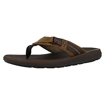 Menns Clarks sandaler Kernick Beach - Tan, størrelse 5G