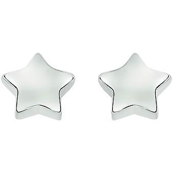 Bella Star Stud Earrings - Silver