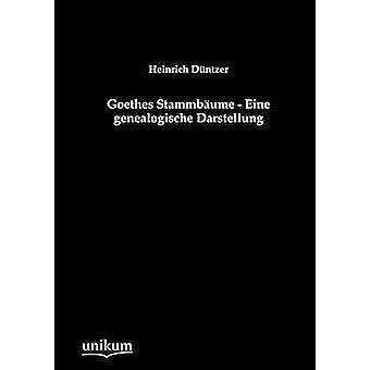 Goethes Stammb Ume Eine Genealogische Darstellung av Duntzer & Heinrich