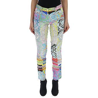 Versace Multicolor Cotton Pants