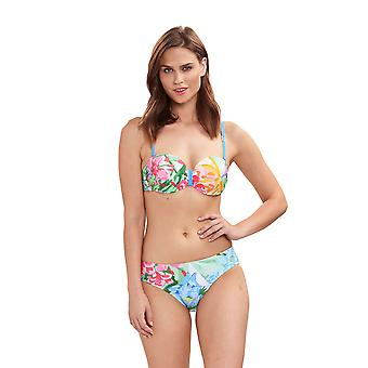 Féraud 3195075-16363 Women's Beach Flowers Multicolor Floral Swimwear Beachwear Beachwear Bikini Set
