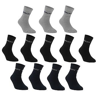 Donnay Kinder Quarter Socken 12 Pack Junior